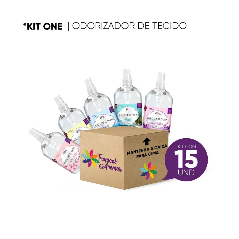 Odorizador de Tecidos KIT REVENDA 15 Unidades - Tropical Aromas