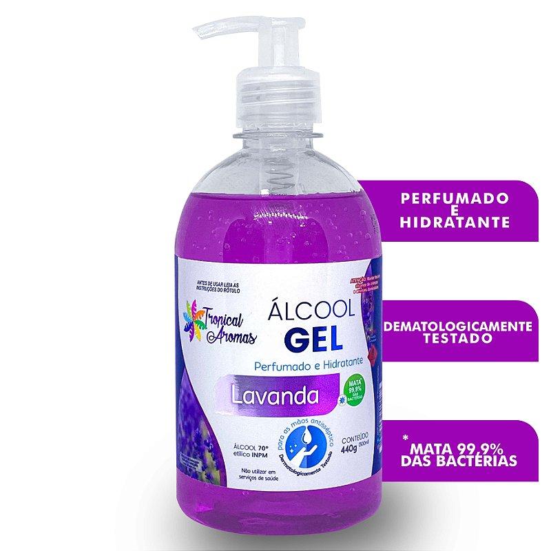Álcool Gel Perfumado Lavanda 500ml - Tropical Aromas