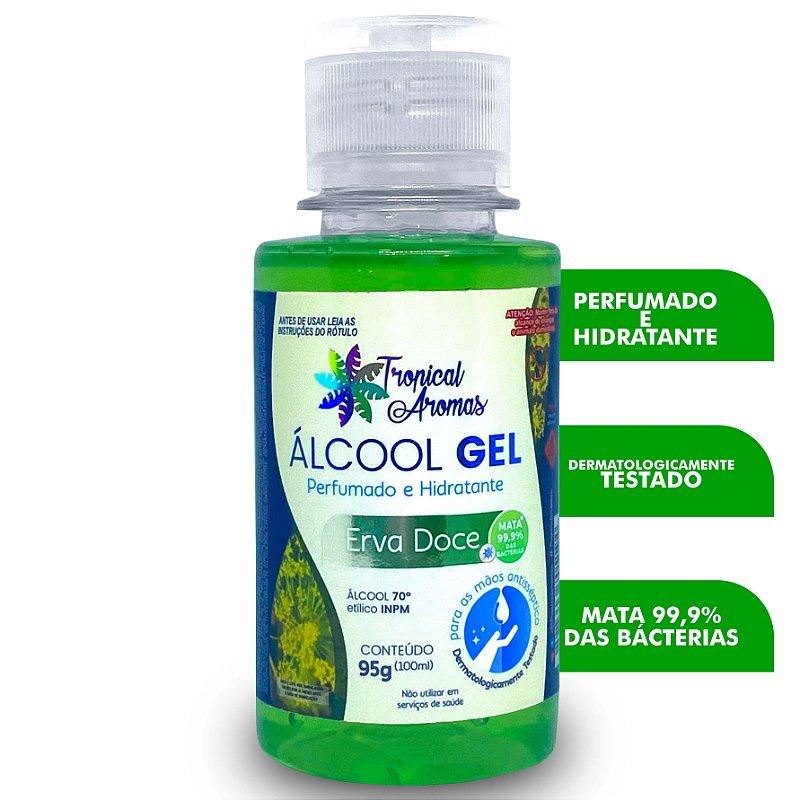 Álcool Gel Perfumado Erva Doce 100ml - Tropical Aromas