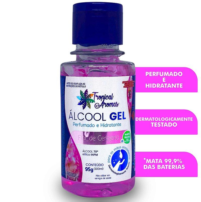 Álcool Gel Perfumado Flor de Cerejeira 100ml - Tropical Aromas