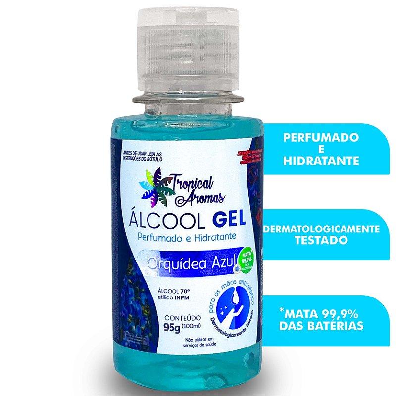Álcool Gel Perfumado Orquídea Azul 100ml - Tropical Aromas