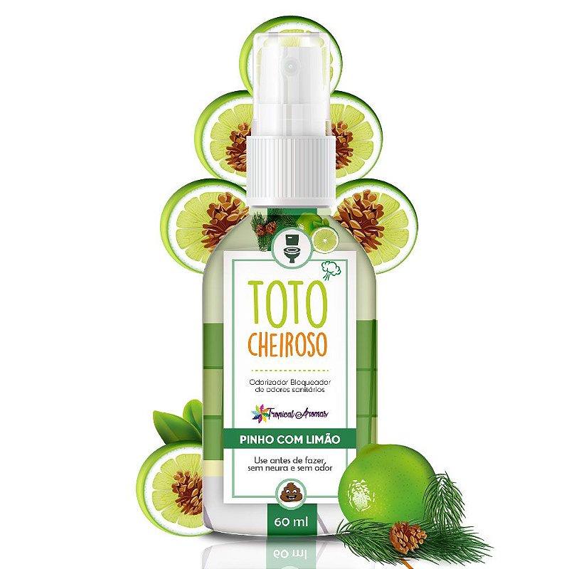 Bloqueador de Odores Sanitários Totô Cheiroso Pinho com Limão 60ml - Tropical Aromas