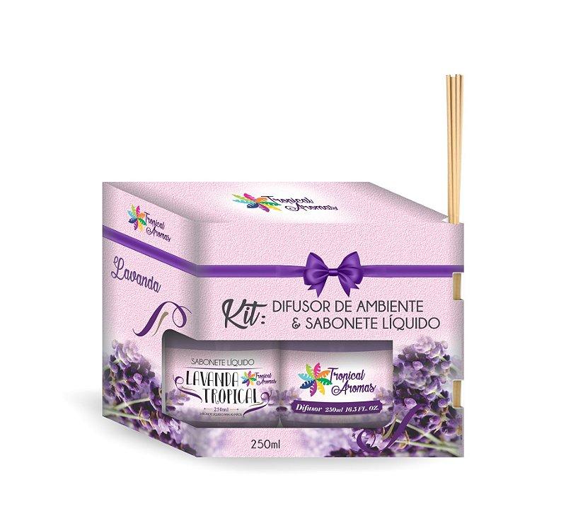 Kit refil difusor e sabonete líquido Lavanda 250ml - Tropical Aromas