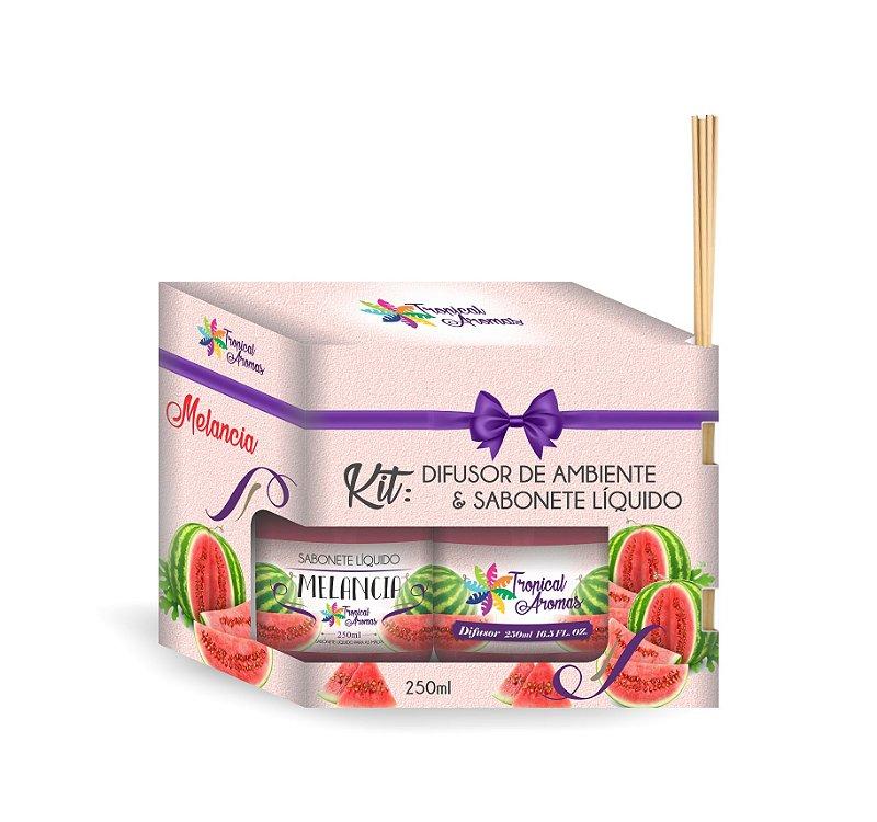 Kit Refil difusor e sabonete líquido Melancia 250ml - Tropical Aromas