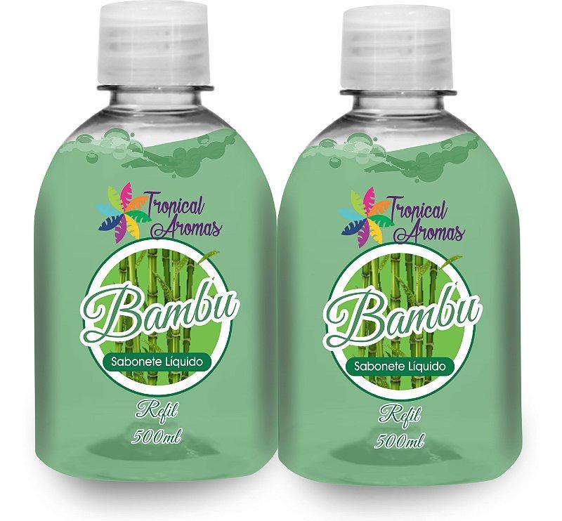 Kit Refil Sabonetes Líquido Bambu 500ml - Tropical Aromas