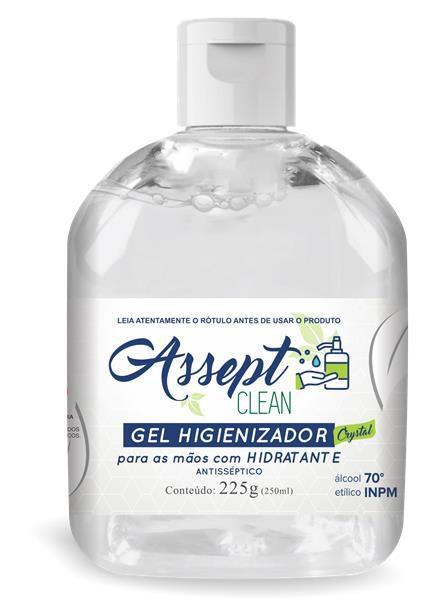 Álcool em Gel Higienizador 250ML - Assept Clean