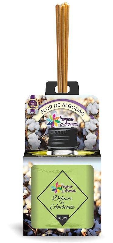 Difusor Aromas do Brasil Flor de Algodão 300ml - Tropical Aromas