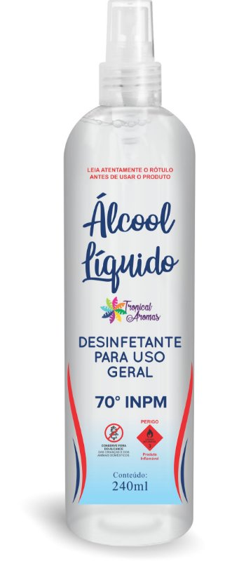 Álcool Líquido 70%   240ml - Tropical Aromas