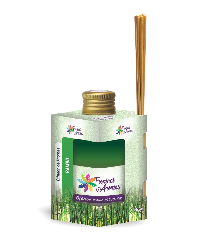 Difusor Caixinha Bambu 250ml - Tropical Aromas