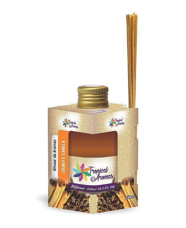 Difusor Caixinha Cravo e Canela 250ml - Tropical Aromas