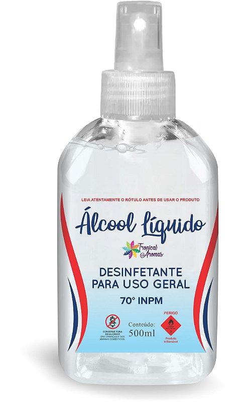 Álcool70% 500ml Tropical Aromas com Spray