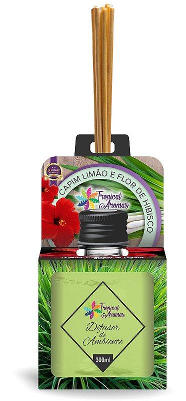 Difusor Aromas do Brasil Capim Limão e Flor de Hibisco 300ml - Tropical Aromas