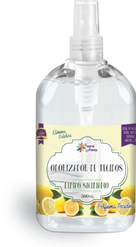 Odorizador de Tecidos Spray Tropical Aromas – Limão Siciliano 500ml