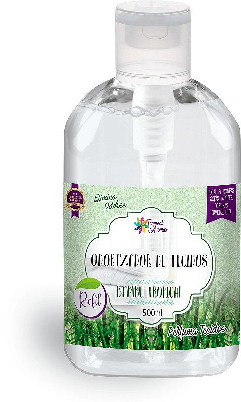 Refil  Odorizador de Tecidos Bambu500ml - Tropical Aromas