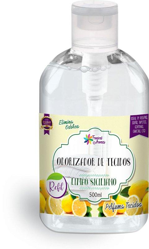 Refil Odorizador de Tecidos Limão Siciliano 500ml - Tropical Aromas