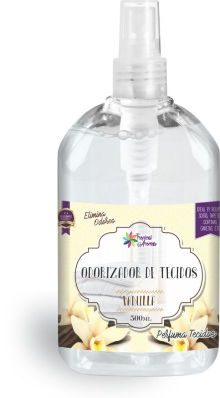 Odorizador de Tecidos Spray Tropical Aromas - Vanilla 500ml