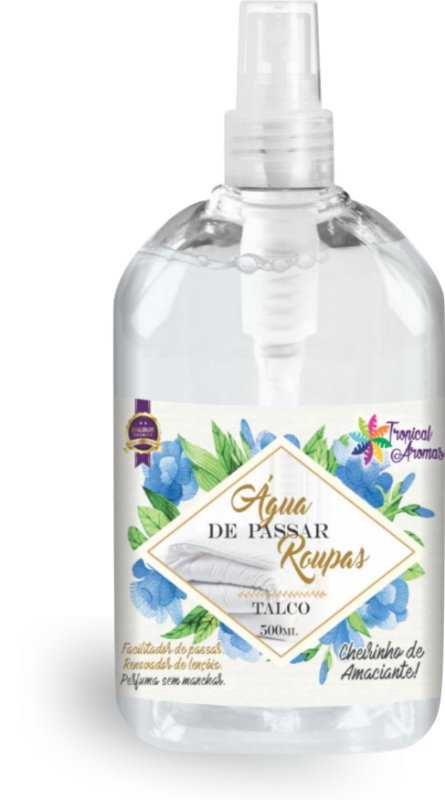 Água de Passar Talco Spray Tropical Aromas 500ml