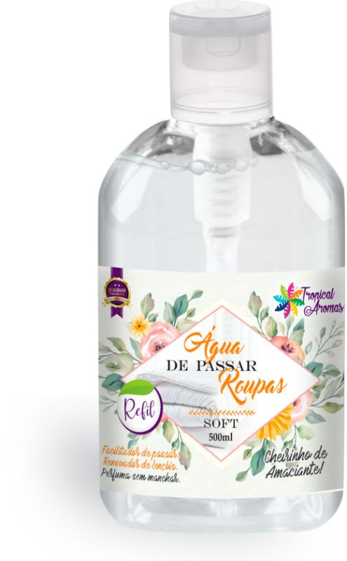 Refil Água de Passar Soft Tropical Aromas 500ml