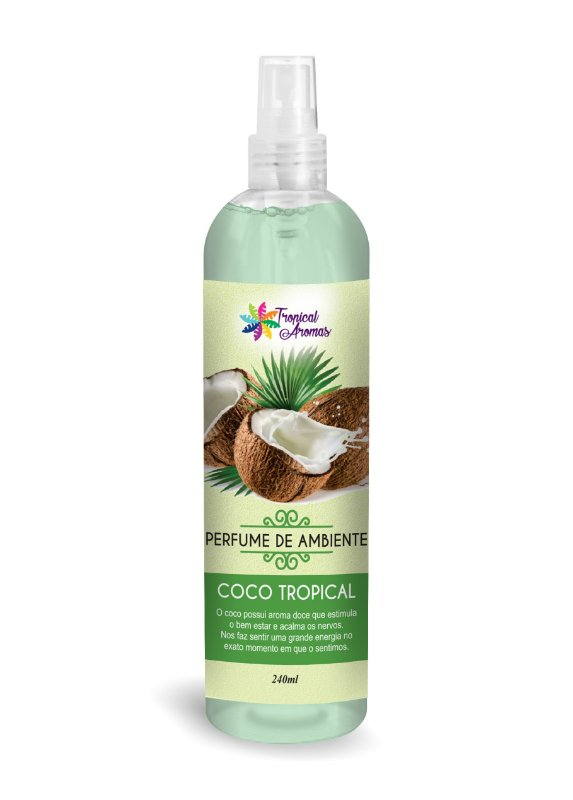 Perfume de Ambiente Coco Tropical 240ml