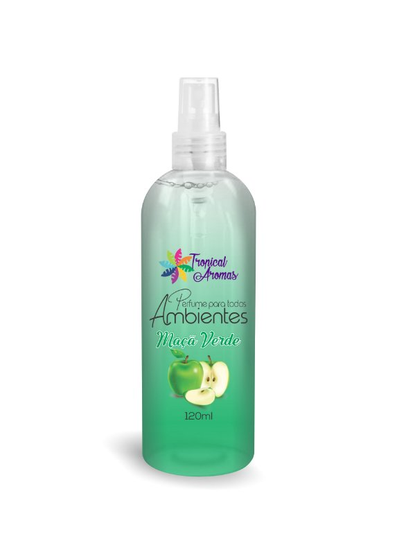 Perfume de Bolsa Maçã Verde 120ml - Tropical Aromas