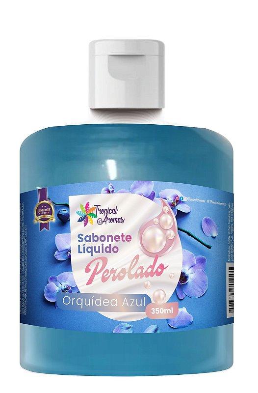 Refil Sabonete Perolado Tropical Aromas Orquídea Azul 350ml