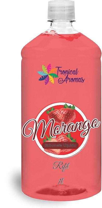 REFIL Sabonete Líquido Tropical Aromas Morango 1L