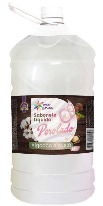 Sabonete Perolado Tropical Aromas Algodão e Avelã1,9L