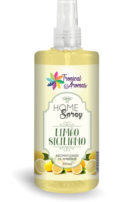 HOME SPRAY TROPICAL AROMAS LIMAO SICILIANO 300ML X 12 UN