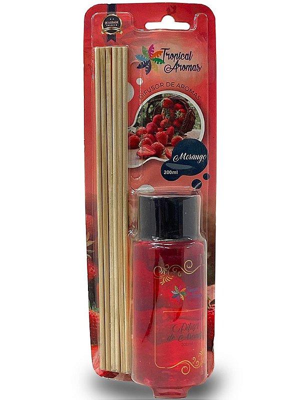 Difusor Blister Morango 200ml - Tropical Aromas