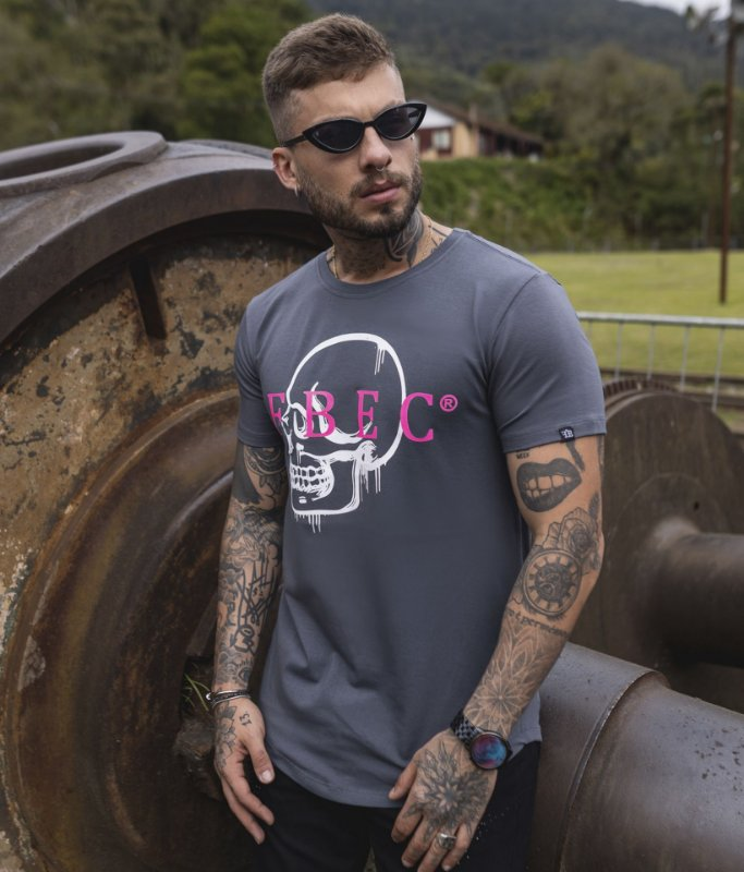 Camiseta FBEC Skull Grafite