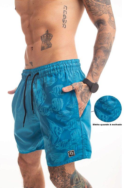 Shorts Magic Print Azul Cancún