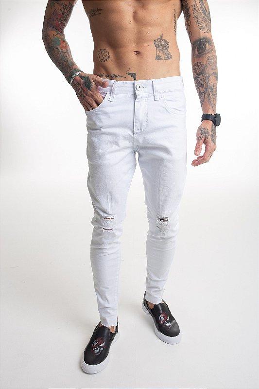 Calça Jeans Destroyed White