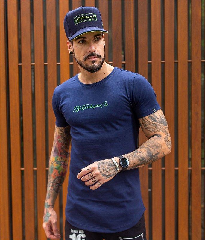 Camiseta Signature Co. Marinho