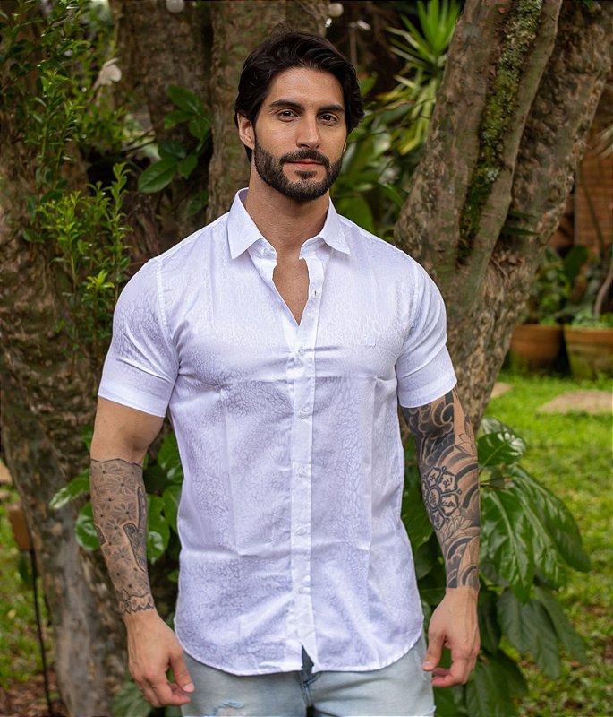 Camisa Leopard White
