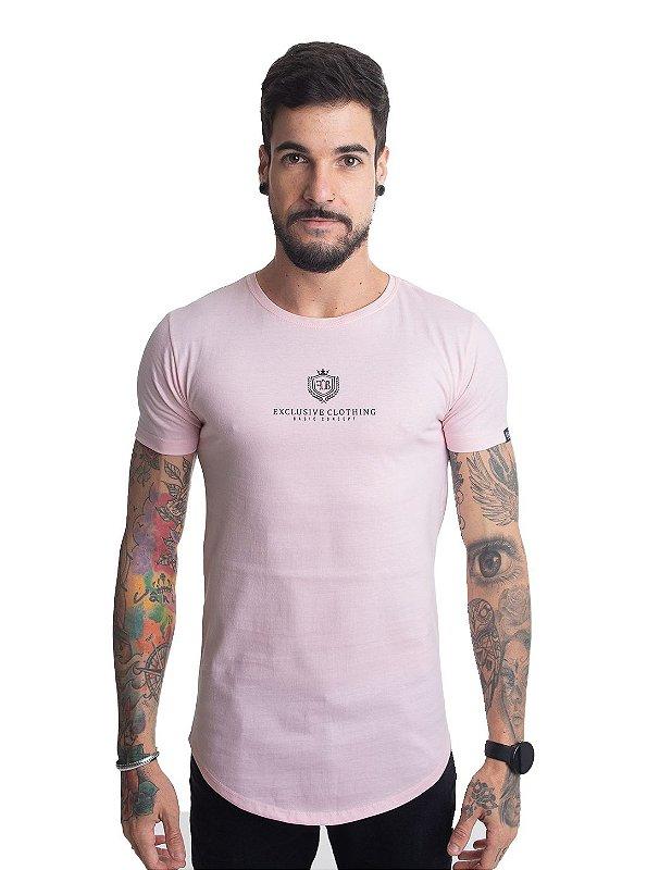 Camiseta Basic Concept Rosa Bebê