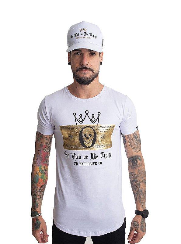 Camiseta Dolar Skull Branca