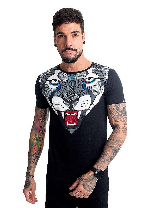 Camiseta Tigre Geométrico