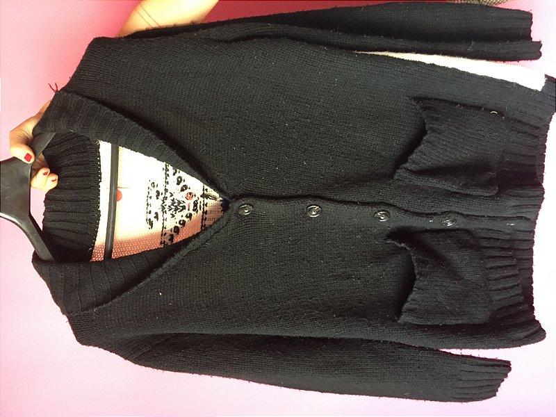 casaco preto brechó