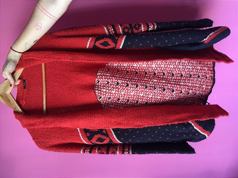 casaco vermelho Cantão brechó - tamanho P