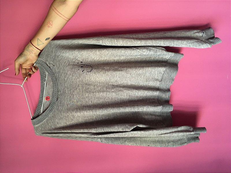 moleton cinza brechó - tamanho G