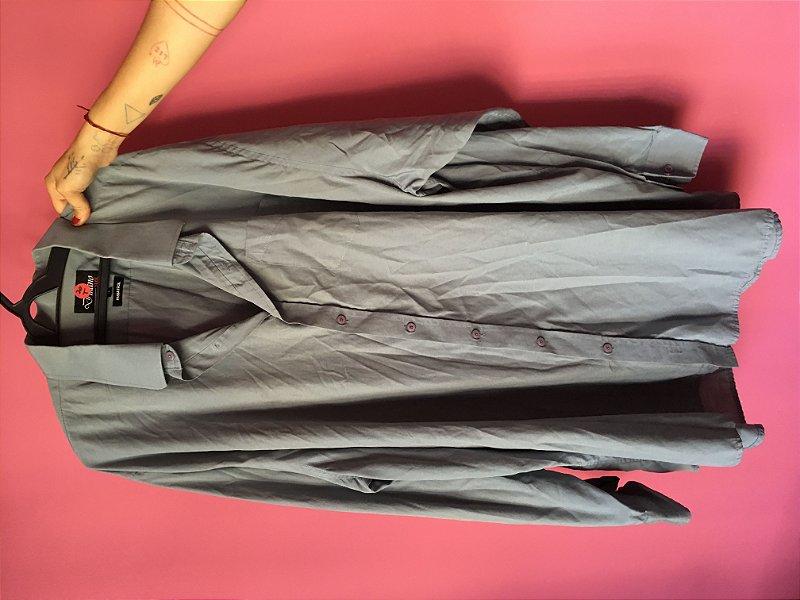 camisa cinza brechó - tamanho 12