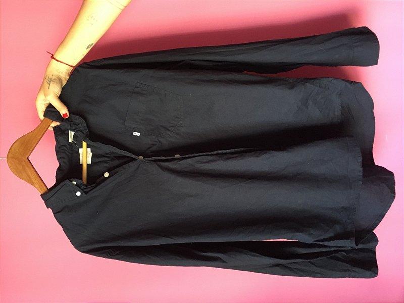 camisa preta feminina levi's brechó - tamanho XG