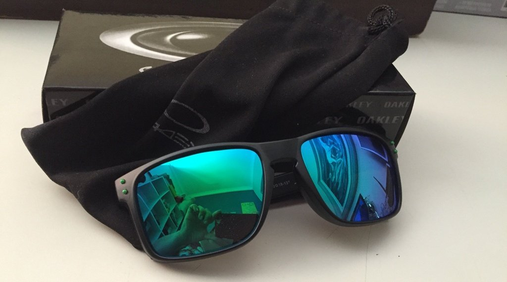 Oculos Oakley Holbrook Preto com Verde. Código  SU5GQ9GXW-T9WQRQ5FT Marca   Oackley. Oculos Oakley Holbrook Preto ... a9fa476e92