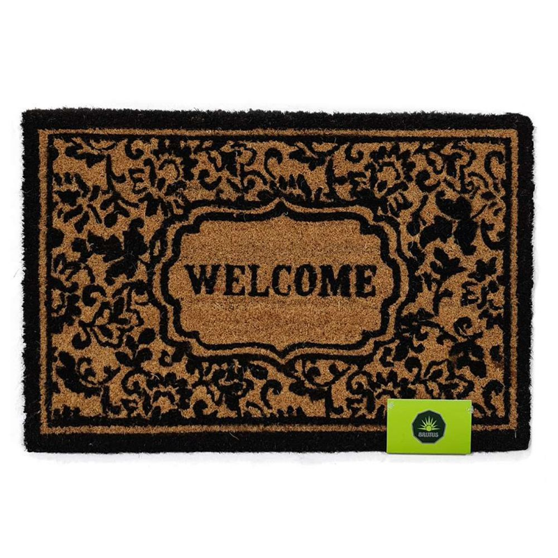 Capacho Welcome Flores Natural 40x60 cm
