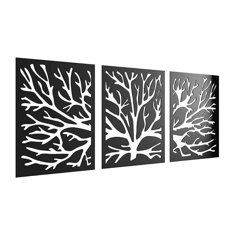 Kit 03 Quadros Decorativos Galhos de Árvore