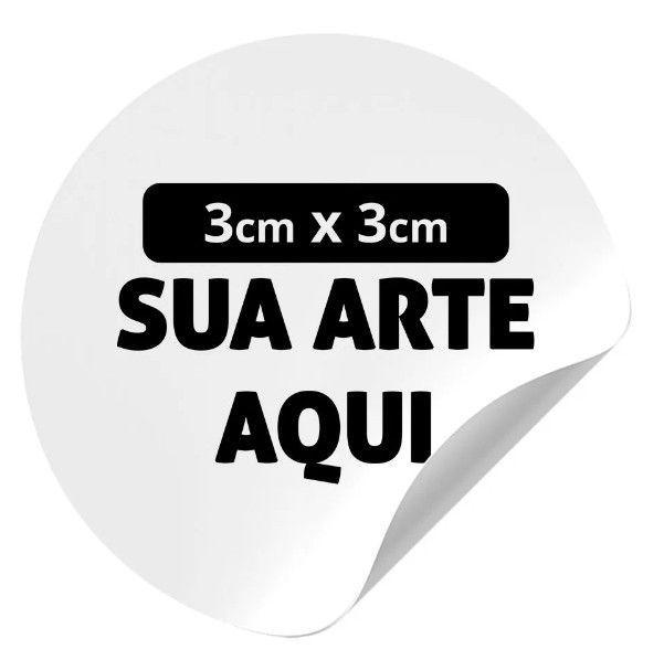 Adesivo em Vinil 3x3cm - 100und