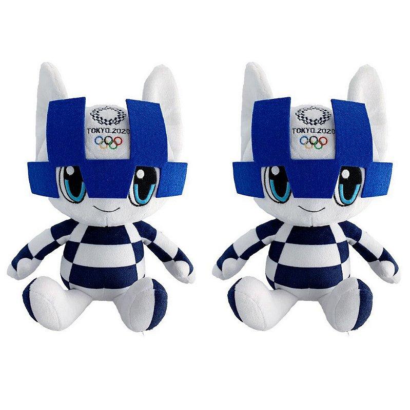 Mascote Olimpíadas 2021 Miraitowa com 02 Pelúcias