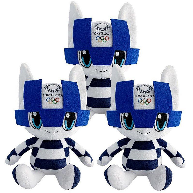 Mascote Olimpíadas 2021 Miraitowa com 03 Pelúcias