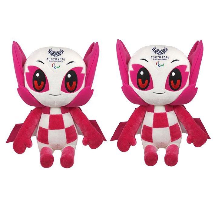 Mascote Paralímpico Pelúcia Someity Tokio 2020/2021 com 2 Pelúcias
