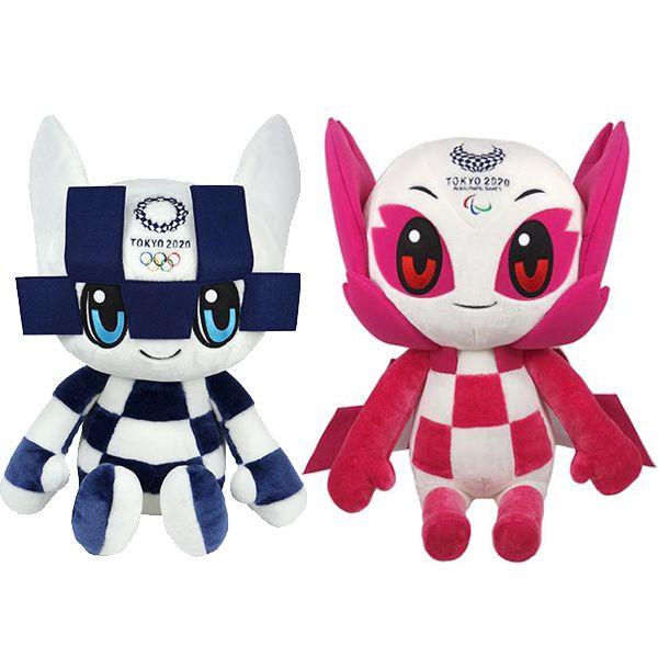 Mascotes das Olimpiadas 2021 Pelúcia Miraitowa e Someity